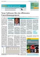 Presseartikel der mkv consulting zum Thema Software für das betriebliche Umweltmanagement.